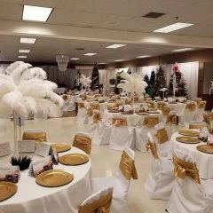 Gold White Feather Venue